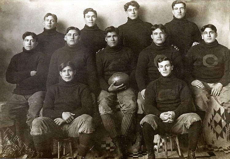 Carlisle Indian School football team 1907 starting lineup