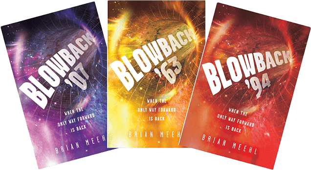 Three Blowback book covers