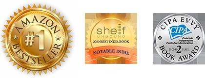 Three book award badges